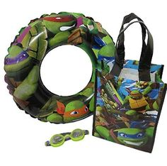 Teenage Mutant Ninja Turtle Water Play Set with Swim Ring Goggles and Small Ninja Tote -- Want additional info? Click on the image.