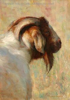 Portrait of Bill E. Goat - Oil by John McCartin