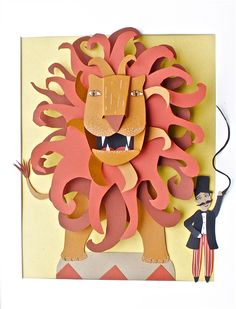 Paper Art for Kids Circus Crafts, Circus Art, Circus Theme, Lion King Art, Lion Art, Medusa Art, Paper Art, Paper Crafts, Animal Art Projects
