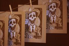 20 Hank Williams Linocut Prints