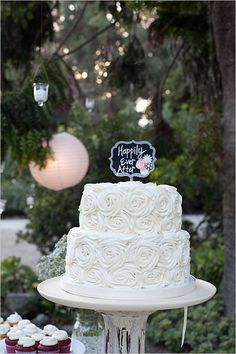 delicious looking happily ever after white cake by MJB Cakes