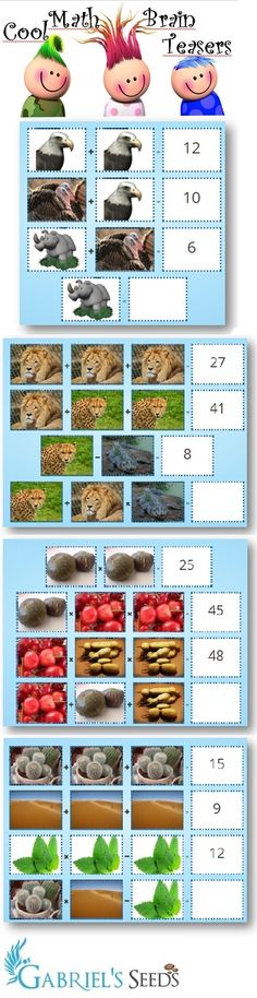 Math games can be so uninteresting with boring pictures. Put images and gifs kids enjoy into math equations and monitor how kids start to like math.