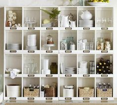 Love this storage on wall going down the basement stairs, Label***