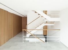 Alventosa Morell squeezes a narrow, day-lit home between two b...