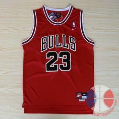 maillot basket nba Chicago Bulls Jordan #23 Rouge mesh   €22.9