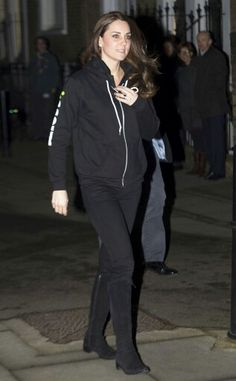 Kate Middleton visiting London's low income scouts today, December 16 2014, dressed casual :)