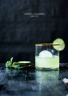 Ginger + Cucumber Gin Fizz Recipe | Apartment 34