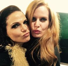 Awesome Lana and Rebecca (Bex) (Regina and Zelena) #Once #BTS Once S5B Spring premiere E12 #SoulsofTheDeparted #OnceTurns100 airs Sunday 3-6-16 #StevestonVillage #Richmond BC #Canada Sunday 3-6-16