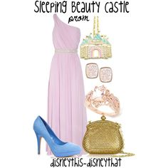 """Sleeping Beauty Castle - Prom"" by disneythis-disneythat on Polyvore"