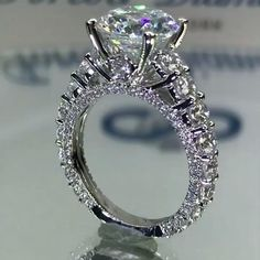 Yellow Engagement Rings, Engagement Ring Settings, Luxury Engagement Rings, Solitaire Engagement, Bridal Rings, Wedding Jewelry, Gold Diamond Wedding Band, Solitaire Diamond, Ring Verlobung