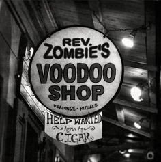 Reverend Zombies - just off Bourbon Street and around the corner from the Cat's Meow
