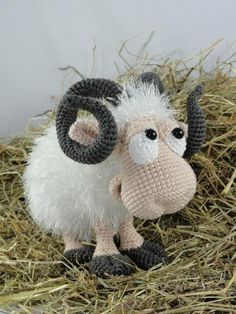 Rambert the Ram Amigurumi Pattern by IlDikko - Craftsy MásThis Amigurumi Häkel Muster - Rambert der Widder - Deutsche Anleitung is just one of the custom, handmade pieces you'll find in our patterns & blueprints shops.Pattern crochet ram pattern am Marque-pages Au Crochet, Crochet Mignon, Crochet Sheep, Crochet Patterns Amigurumi, Cute Crochet, Crochet Crafts, Crochet Dolls, Crochet Projects, Crochet Animals