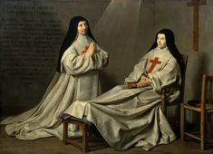 Philippe de Champaigne - Portrait of Mother Catherine-Agnes Arnauld and Sister Catherine of St. Suzanne Champaigne, the artist's daughter