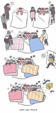 Exo Ot12, Chanbaek, Kaisoo, Baekhyun Chanyeol, Exo Kai, Exo For Life, Exo Anime, Exo Lockscreen, Exo Fan Art