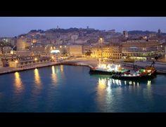 Ancona Port at night