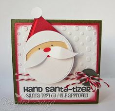 Luv 2 Scrap n' Make Cards: Hand Santa-tizer Packages Christmas Puns, Office Christmas, Very Merry Christmas, Christmas Projects, Christmas Time, Christmas Ideas, Christmas Things, Christmas Decorations, Mini Hands