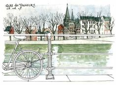 Urban sketchers show the world, one drawing at a time. Famous Architecture, Architecture Awards, Gothic Architecture, Art Altéré, Artist Art, Cool Sketches, Cool Drawings, Illustrations, Illustration Art