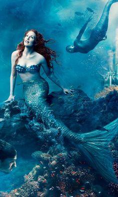 ✿ | Julianne Moore as Ariel by Annie Leibovitz, Disney Dream Portrait Series