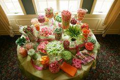 Wedding candy bar, a great alternative to wedding favors!