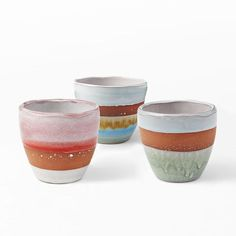 Made in Portugal, our Striped Terracotta Pots come in a range of shades and sizes. Place a few on a windowsill to create a colorful inner garden.
