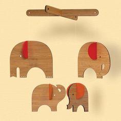 Elephant Mobiles for the Nursery