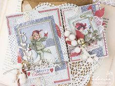 Wonderful Christmas Cards by Padoriaa. <3 Papers from MajaDesign's latest collection Joyous Winterdays. <3  #card #cardmaking #cardinspiration #papercraft #papercrafting #papercrafts #scrapbooking #majadesign #majadesignpaper #majapapers #inspiration #vintage
