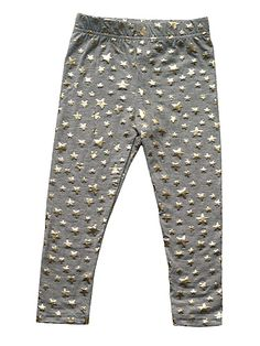Beau Loves Circus Leggings - Grey-Marl-Gold-Star
