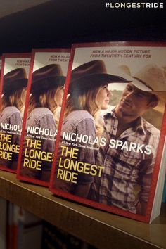 The new movie edition of Nicholas Sparks' The Longest Ride is in stores now! Pick up your copy and get ready to see the movie in theaters this April.