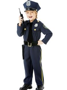 Child Police Officer Costume by Fancy Dress Ball