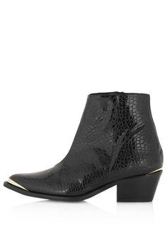 Shiny snake boots