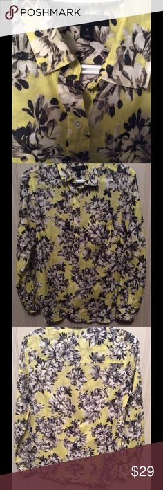 J. Crew Top Cotton & Silk Size 2 Pretty transitional Top for Spring! Light weight cotton and silk. Size 2. Long sleeve. Button front pop over. J. Crew Tops Blouses