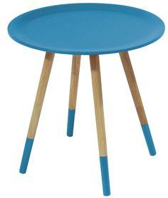 Bijzettafeltjes!! Side table Two Tone blue by Zuiver at stealtheroom.com