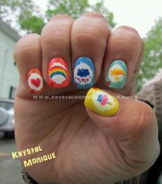 Care Bears..... If I painted up my nails.... I might do them like this!!!