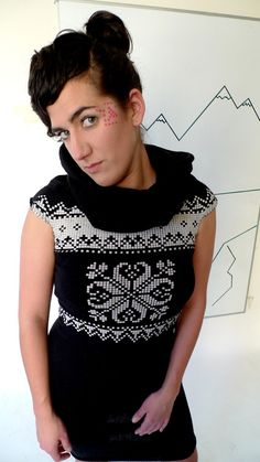 Knit 1 in the Front and Back Loops A winter dress by HOLAPORQUE, $55.00
