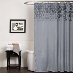 Kess InHouse Heidi Jennings Gray Snake Skin Grey Shower Curtain