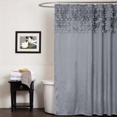 Kess InHouse Heidi Jennings Gray Snake Skin Grey Shower Curtain