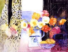 Arctic-Poppies-in-a-Blue-Jug.jpg Shirley Trevena