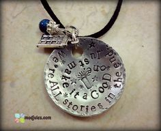 Dr Who Necklace, Dr Who Jewelry, We're all Stories in the End. Just Make it a Good One, Hand Stamped Necklace, Whovian Gift for Her, Geekery by ModJules on Etsy https://www.etsy.com/listing/177572589/dr-who-necklace-dr-who-jewelry-were-all