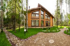 Smart Village, Russia Russia, Cabin, Mansions, House Styles, Home Decor, Decoration Home, Manor Houses, Room Decor, Cabins