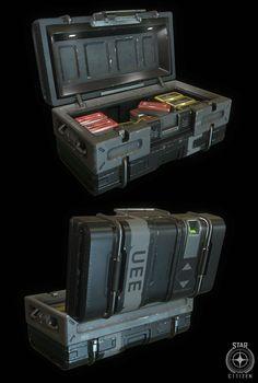 ArtStation - Star Citizen ammo crate, Aaron Deleon