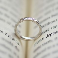 I Love You to The Moon and Back Sterling Silver Dainty Promise Ring for Her [100687] - $51.00 : jewelsin.com