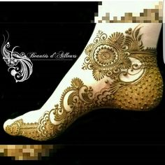 Take note that the original artist's watermark has been pixelated by the imposter artist Henna Tatoos, Mehandi Henna, Leg Henna, Leg Mehndi, Foot Henna, Mehndi Tattoo, Henna Tattoo Designs, Mehendi, Tattoos