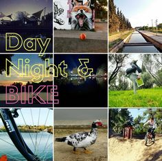 Day Nigh .& Bike. Bike, Day, Movie Posters, Movies, Bicycle Kick, Films, Film Poster, Bicycle, Popcorn Posters