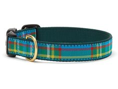 Up Country Kendall Plaid Dog Collar