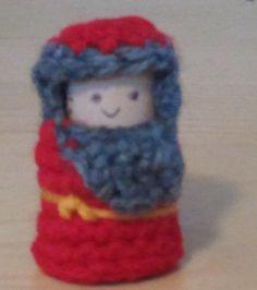 Crochet and Cork Nativity Set