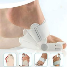 """Corrector Foot Pain Relief Big Toe Bunion Splint Straightener Hallux Valgus, Arch support design to relief forefoot stress  One fits left or right toe Color: White  Size : 13.2*3CM   Package Included:  1pc big toe splint   Fast ship and send with""""FREE GIFT"""" by thehotproducts.com.   Thanks"""