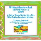 Writing Adventures Task Cards Pack- 70+ writing prompts kids will love...$