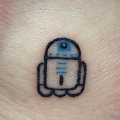 My R2-D2 tattoo! Sweet and simple on my left ankle and my sister has a matching one too