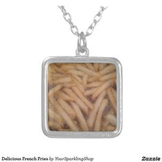 Delicious French Fries Square Pendant Necklace