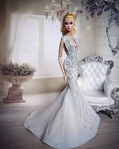 Image may contain: one or more people and indoor Barbie Bridal, Barbie Wedding Dress, Barbie Gowns, Barbie Clothes, Barbie Fashion Royalty, Fashion Dolls, Dress Outfits, Fashion Dresses, Barbie Model